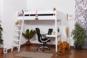 hochbett klassisch stabiles g nstiges hochbett kaufen. Black Bedroom Furniture Sets. Home Design Ideas